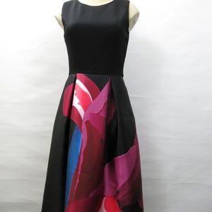 Ted Baker Black Pink Floral Formal Dress Size 0